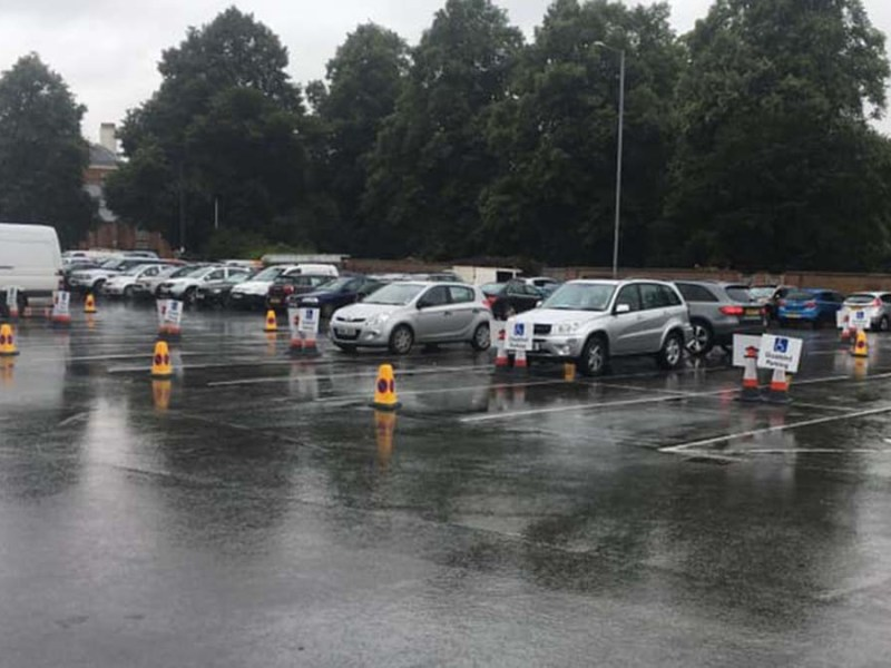Bays reserved for disabled drivers in Bird Street car park