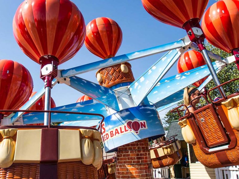 James and the Red Balloon ride at Drayton Manor