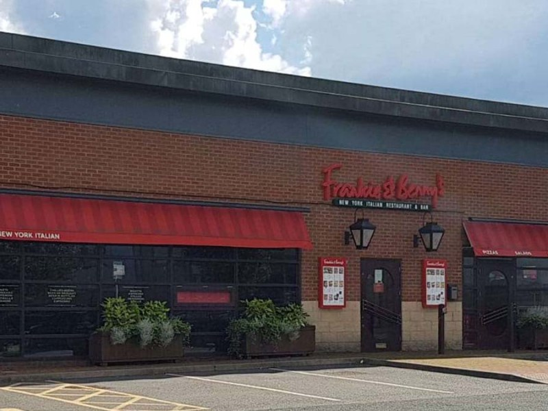 The former Frankie and Benny's restaurant