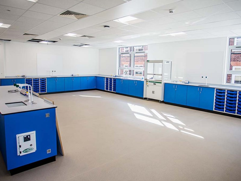 One of the new teaching areas at King Edward VI School
