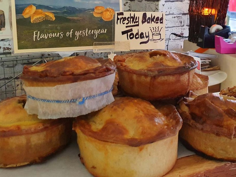 Some of the pies on offer at The Cheese Cavern in Lichfield