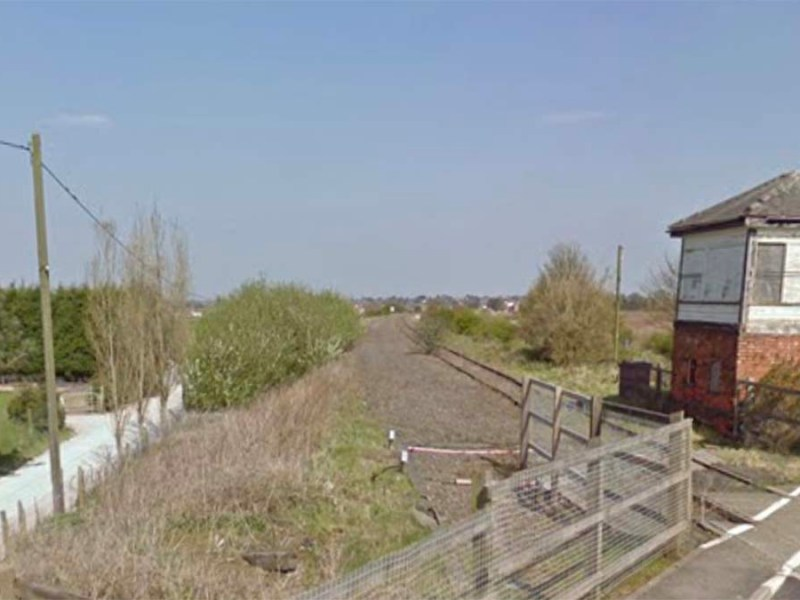 A level crossing on the former Lichfield to Walsall railway line. Picture: Google Streetview