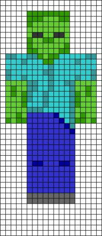 14.Как нарисовать по клеточкам майнкрафт