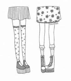 12.Рисунки для срисовки легкие для девочек