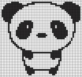 19.Как нарисовать панду по клеточкам