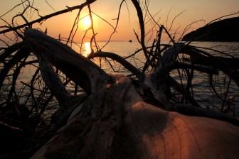 Sonnenuntergang in der Cala Violina