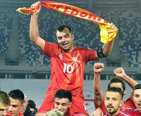 Goran Pandev viết lên lịch sử bóng đá Macedonia ở tuổi 37