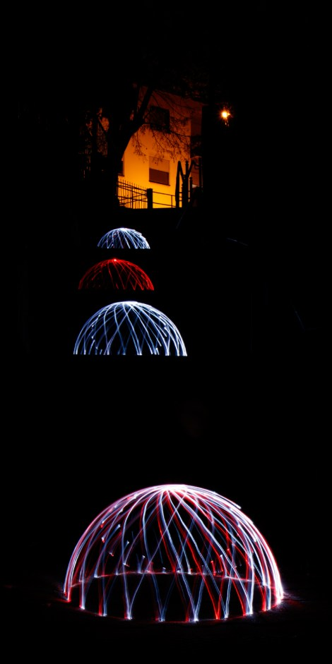Lightpainting Dome