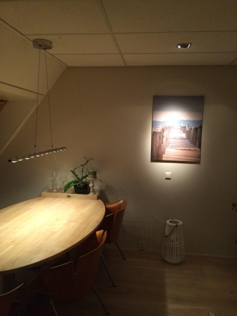 Hanglamp rekeninghoudend met schuine kap