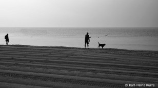 morgens - am Strand
