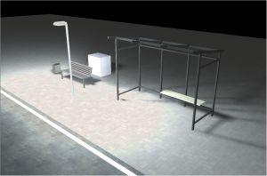DIALux-Simulation Haltestelle