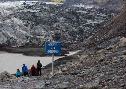 Gletscherzunge Sólheimajökull auf Island