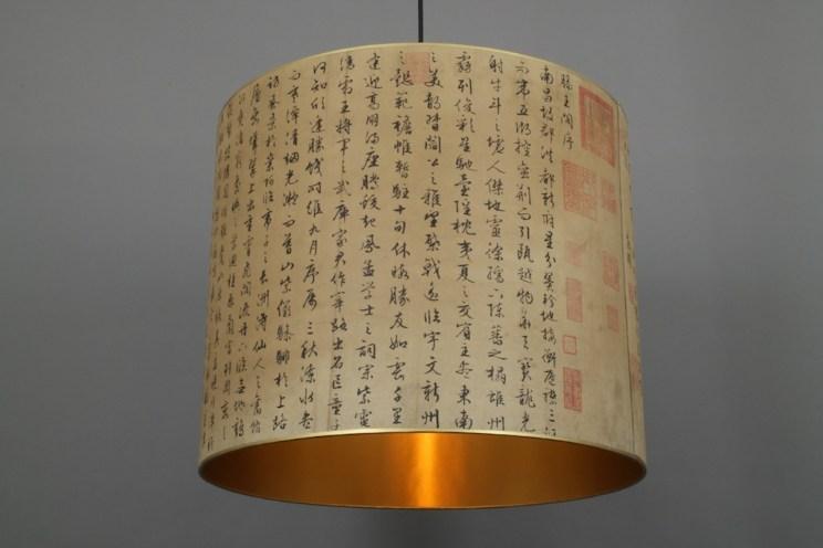 Hängelampe Kaligraphie Tang Dinasty