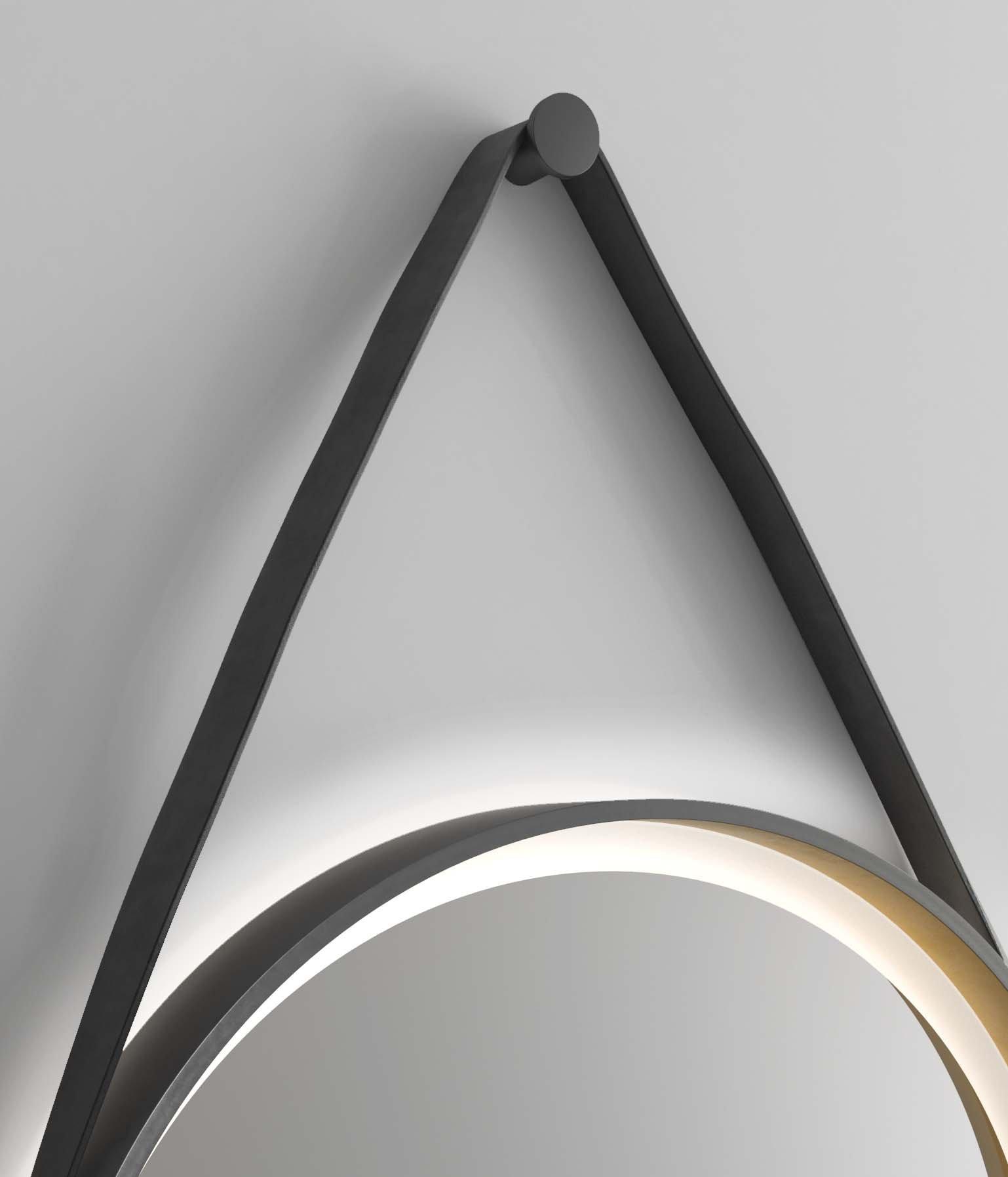 Miroir Rond Eclaire Miroir Design Talos Golden Summer
