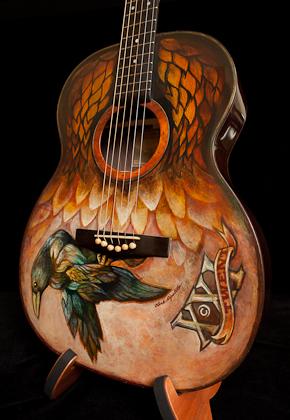Custom Painted Acoustic Guitars : custom, painted, acoustic, guitars, Painted, Acoustic, Guitar, Lichty, Guitars