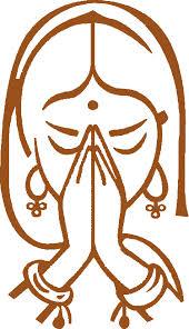 Namaste hands woman