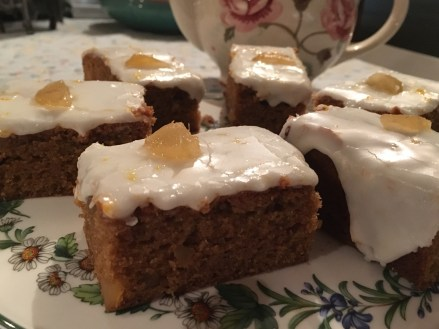 Iced Stem Ginger Cake