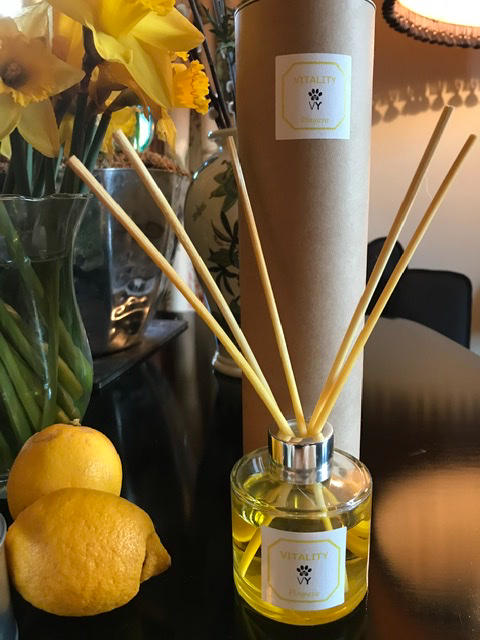 "Vitality ""Vinyasa"" Reed diffuser available from @vetyogi"