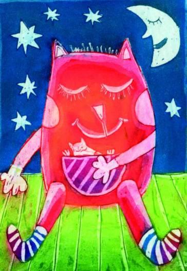 Medvedkove sanje, 13x9 cm, 2010 (cena 35 eur)