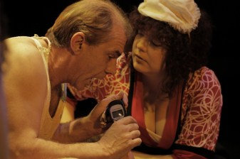 Robin Davies (White) & Hart DeRose (Anna Lucia). Photo by Ryan Gaddis (2011)