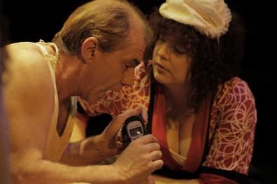 Robin Davies (White) & Hart DeRose (Anna Lucia). Photo by Ryan Gaddis (2011)