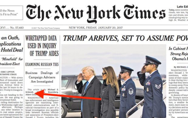 SAME NY Times Reporter Said Trump Team Was Wiretapped In Jan., But Said TRUMP Lacked Evidence In March
