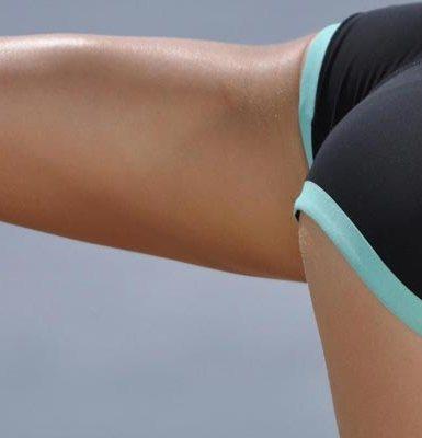 ejercitándose para adelgazar los muslos sin perder el trasero