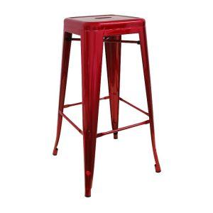 taburete-meyer-metalizado-rojo