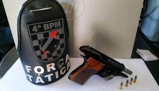 Polícia Militar prende homem e apreende pistola em Ponta Porã