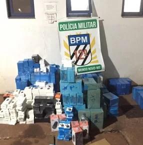 Polícia Militar de Mundo Novo apreende mercadorias descaminhadas