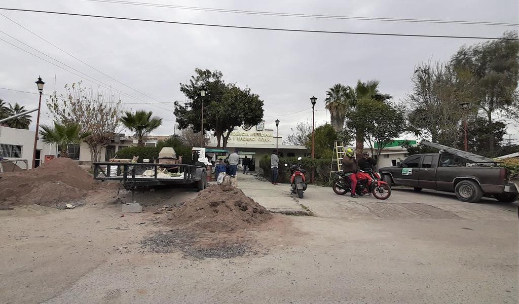 Rehabilitan edificio de Presidencia Municipal en Madero
