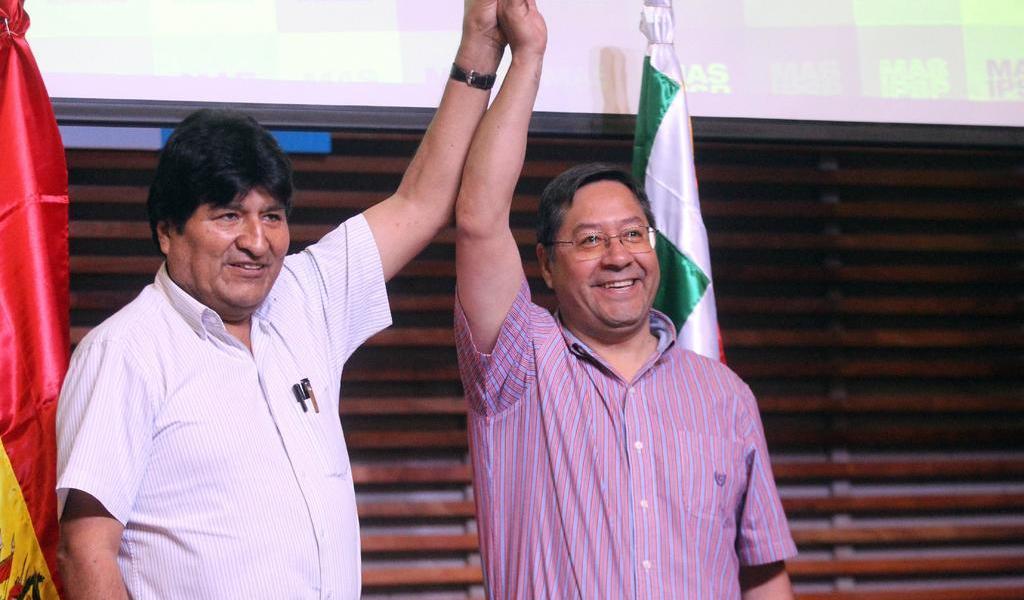 Continuidad con candidatos del MAS: Evo