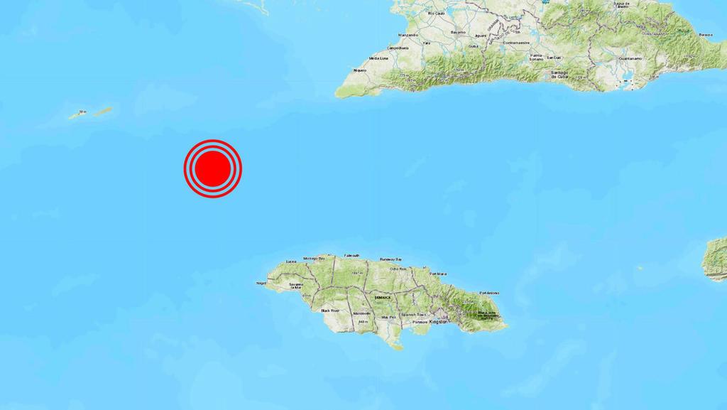 Se registra sismo de magnitud 7.3 entre Cuba y Jamaica