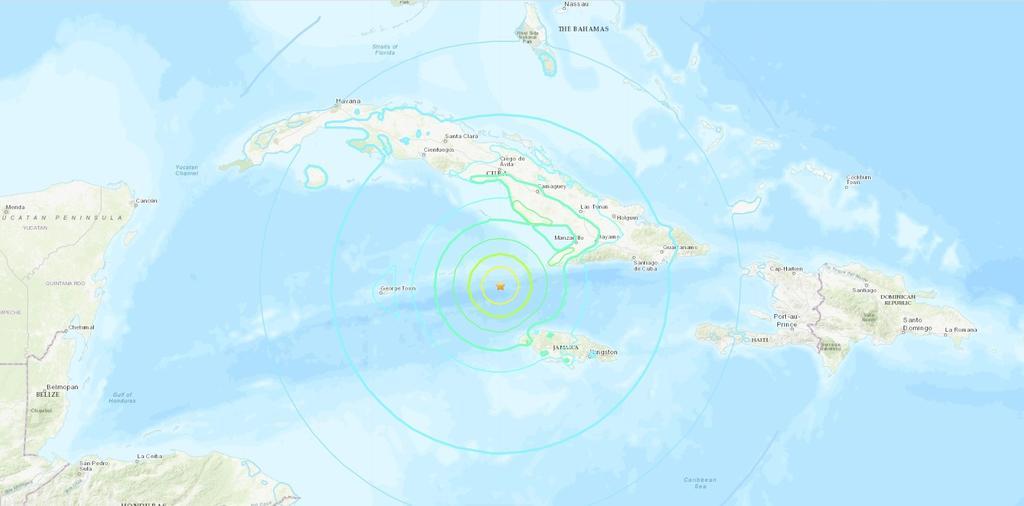 Desestiman riesgo de tsunami tras sismo entre Jamaica y Cuba