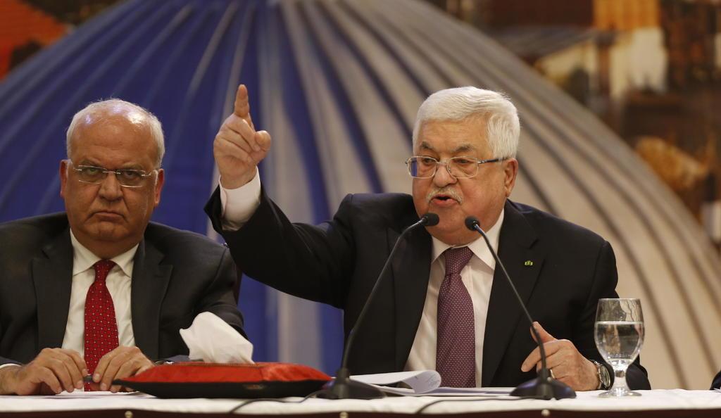 Presidente palestino anuncia ruptura de relaciones con EUA e Israel
