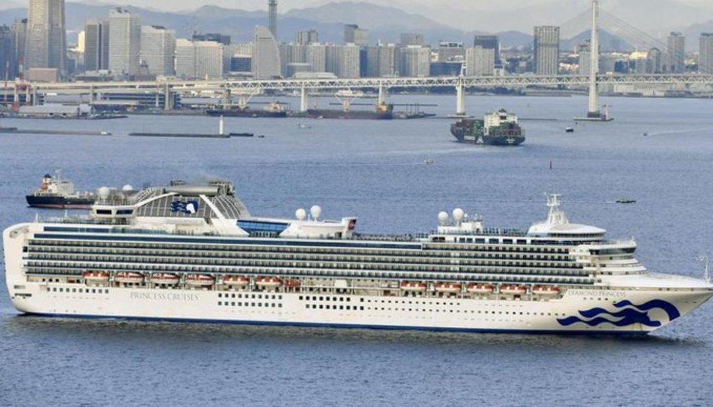 En cuarentena, crucero en Japón