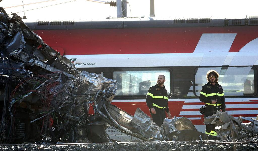 Descarrila tren de alta velocidad en Italia; hay dos muertos