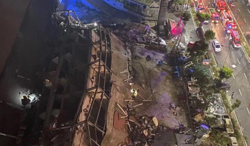 Reportan derrumbe de hotel usado para cuarentena del coronavirus en China