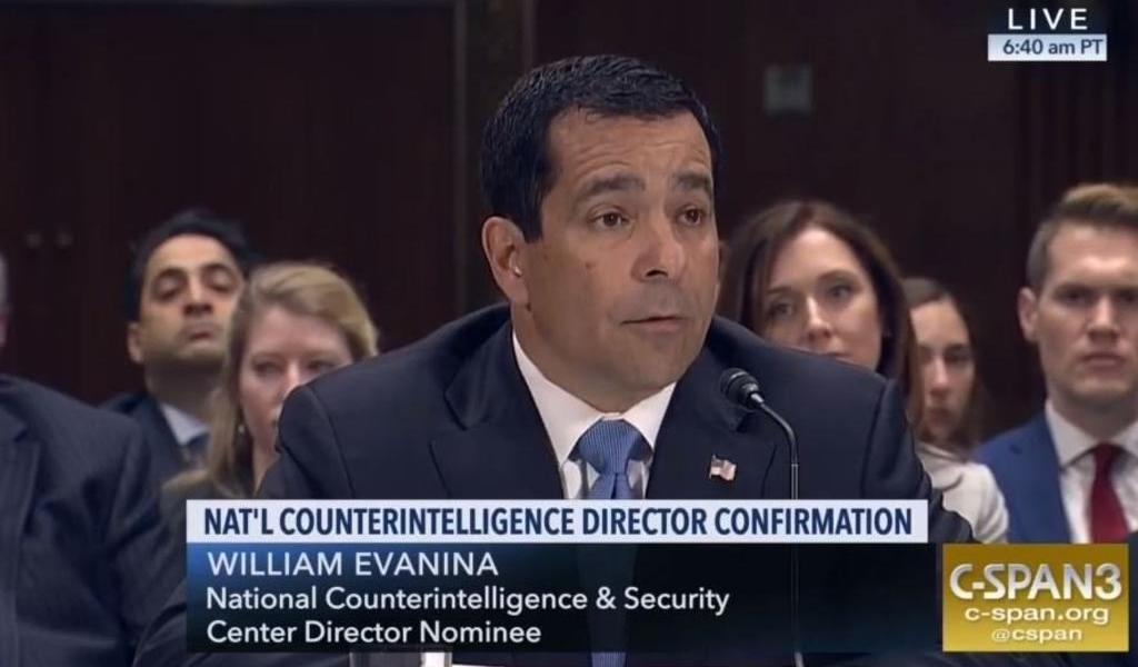 Aprueba Senado de EUA nombramiento de jefe de Contrainteligencia