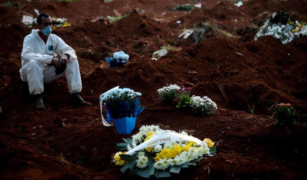 Reporta Brasil más de mil muertes por COVID en últimas 24 horas
