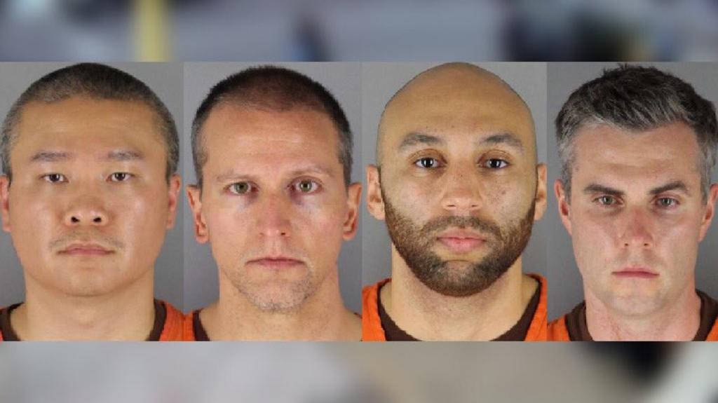 En prisión los cuatro oficiales involucrados en la muerte de George Floyd
