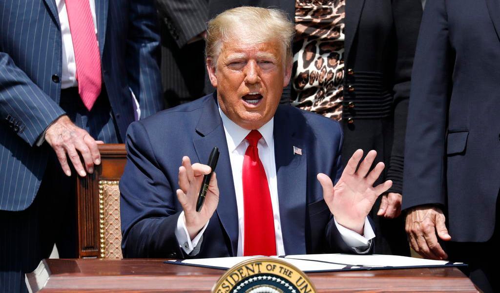 Afirma Trump que su plan para combatir el racismo es una economía fuerte