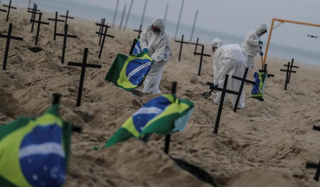 Brasil, segundo país con más muertes