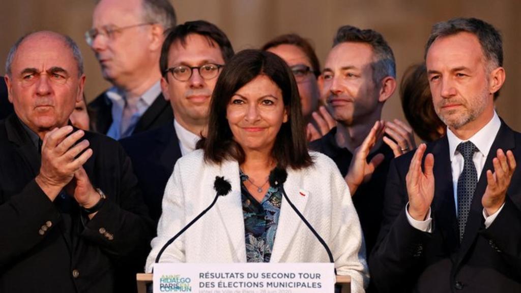 Anne Hidalgo proclama su victoria en París