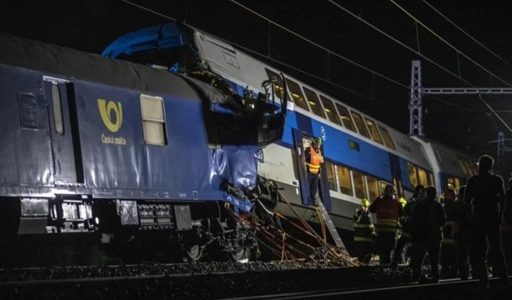 Accidente de tren deja un muerto en República Checa
