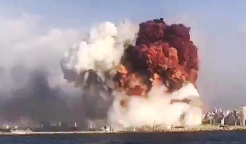 Declara Líbano día de luto tras gran explosión en el puerto de Beirut