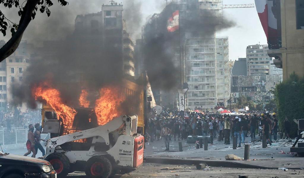 Beirut, escenario de violencia tras protestas contra la clase política