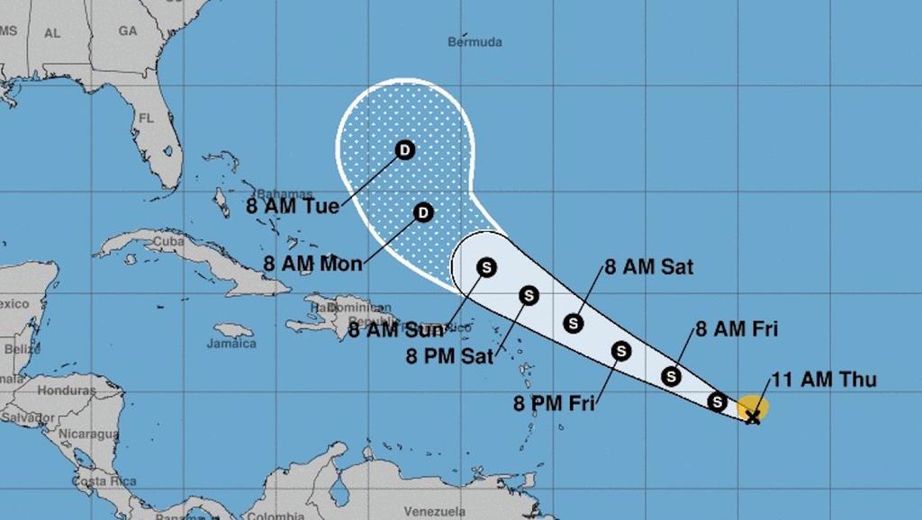 Se rebaja Josephine a depresión tropical; no es amenaza en el Caribe