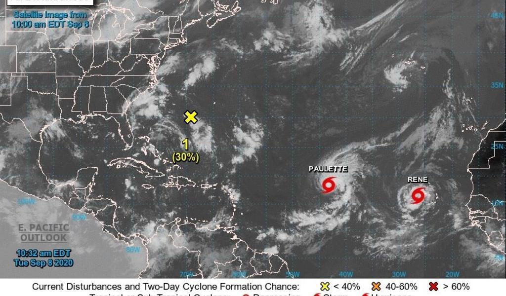 'René' pasa a depresión y 'Paulette' sigue como tormenta en aguas del Atlántico