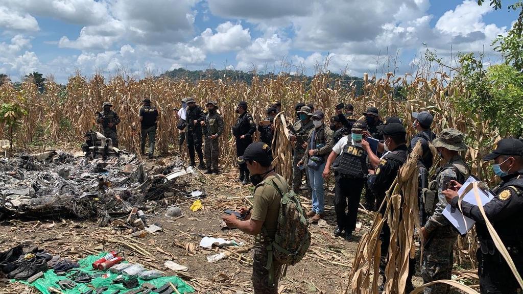 Identifican a narcotraficante fallecido en desplome de avioneta en Guatemala